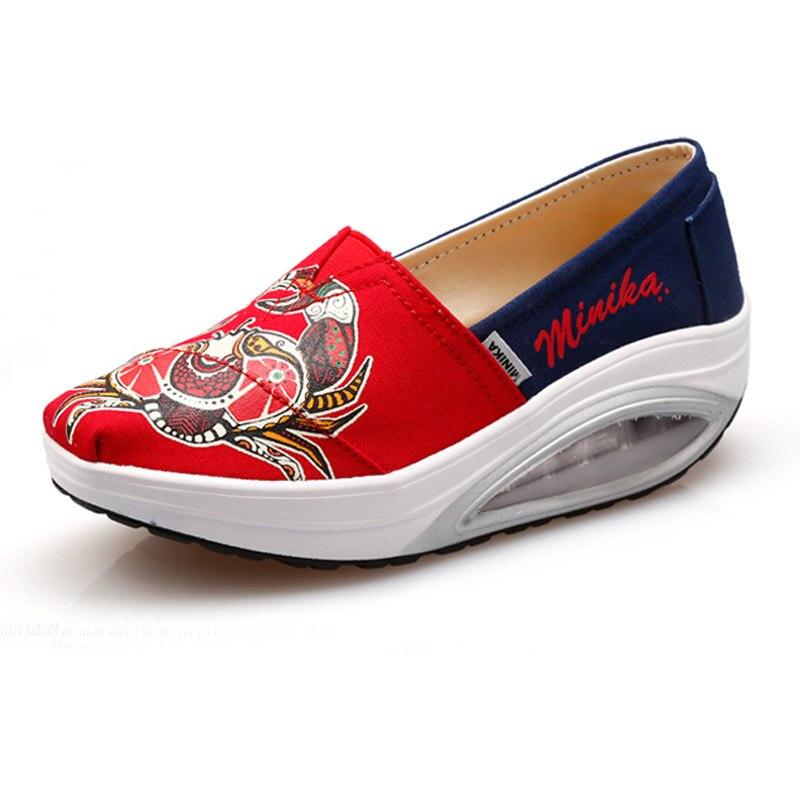 42ebf5285 Mulheres Tênis air slimming Altura Crescente sneakers Senhora balanço do  esporte da aptidão Antiderrapante Amortecimento sapatos de caminhada