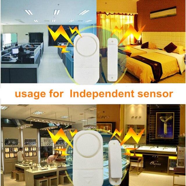 Syst me d alarme de s curit domestique Capteurs magn tiques autonomes sans fil pour porte