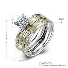 Titanium Steel Couple Fashion Rings Elegant Jewelry