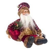 Милая Рождественская Новогодняя кукла высотой 34 см Санта Клаус Сидящая кукла из ткани Рождественская Кукла Рождественское украшение детск...