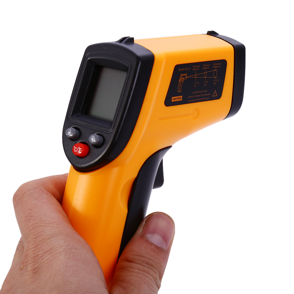 New GM320 Infrared Thermometer Non-Contact Temperature Tester LCD Display IR Laser Point Gun Diagnostic-Tool Digital Thermometer 1pc colorful lcd display infrared thermometer non contact digital ir laser thermometer 30 300degree for bside btm21a