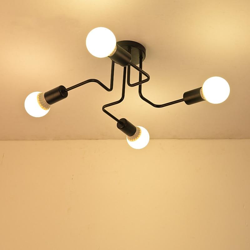 Retro Vintage 4/6/8 Heads E27 Industrial Pendant Light Iron Black White Dining Kitchen Bar Pendant Lamp Holder Fixture 110-240V