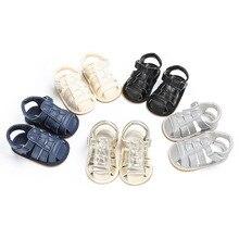Moda Bebê Menino de Verão Sapatos Macios Sapatos de Sola de Borracha Anti-slip Crianças Recém-nascidas Bebe Primeiros Caminhantes Berço Sapatos Ao Ar Livre Para calçado