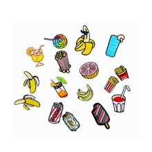 16PCs Mixed Patches DIY Apparel Accessories Patch Europe the United States wind exports patches drinks fruit French fries patch