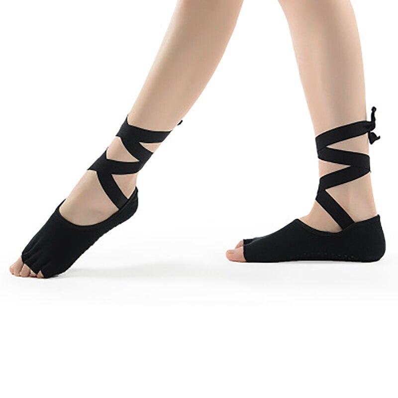 yoga socks and gloves set women black pink pilates socks Massage Five Toe ballet yoga socks fitness crossfit sport socks HW404
