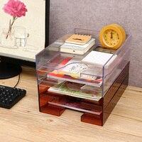 Creative A4 Paper Plastic Storage Box Can Superimpose Transparent Office File Desktop Finishing Racks