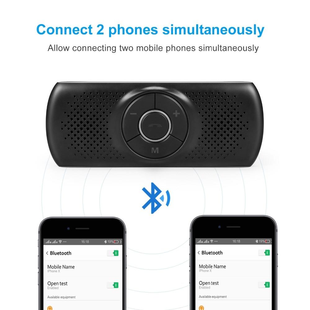 ANLUD Handsfree Bluetooth Car Kit Wireless Bluetooth Speaker Phone EDR MP3 Music Player Sun Visor Clip Speakerphone (6)