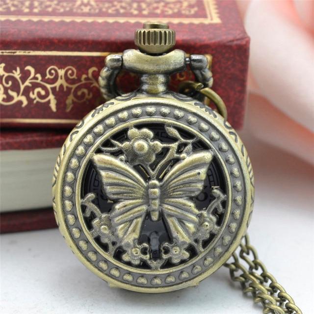 11.11 2017 NEW Vintage Retro Classic Bronze Design Pocket Watch Quartz Pendant N