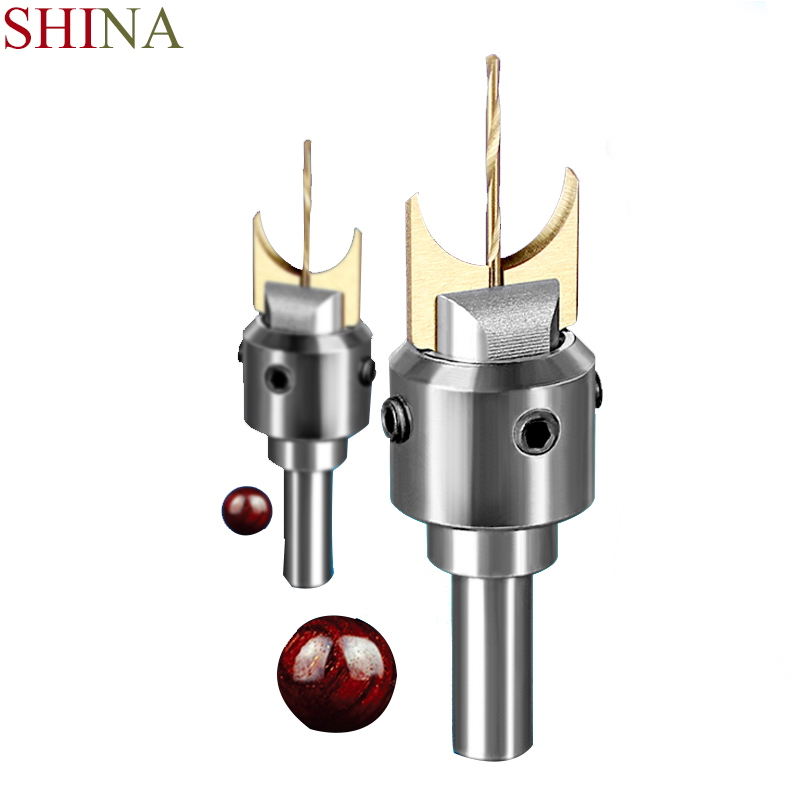 SHINA Wood Cutter Buddha Beads Ball Knife Set For CNC Milling Wooden Beads Drill Milling Cutter ToolKnife Insert Round Knife Bit 16pcs 14 25mm carbide milling cutter router bit buddha ball woodworking tools wooden beads ball blade drills bit molding tool