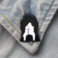 DMLSKY 20pcs/lot Game of Thrones Art Enamel Pins and Brooches Lapel Pin Backpack Bags Badge Clothing Decoration Gifts M3348
