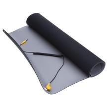 700*500*2.0mm Мат антистатический + провод заземления + ОУР для ремонтных мобильный компьютер Антистатический одеяло, ОУР мат пцп