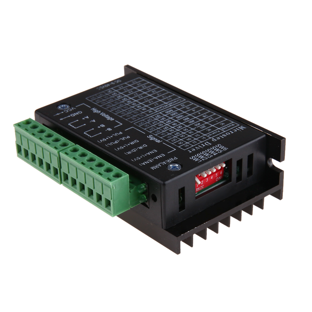 TB6600 stepper motor Driver Controller 4A 9~42V TTL 16 Micro-Step CNC Controller version of the 42/57/86 Stepper Motor MicrostepTB6600 stepper motor Driver Controller 4A 9~42V TTL 16 Micro-Step CNC Controller version of the 42/57/86 Stepper Motor Microstep