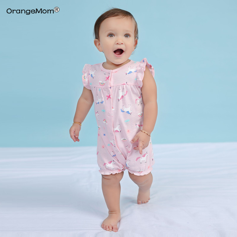 Brand 2019 Summer Baby   Rompers   Short Sleeve Baby Girls Clothing Kids Jumpsuits Newborn Baby Boy Clothes Roupas vestidos