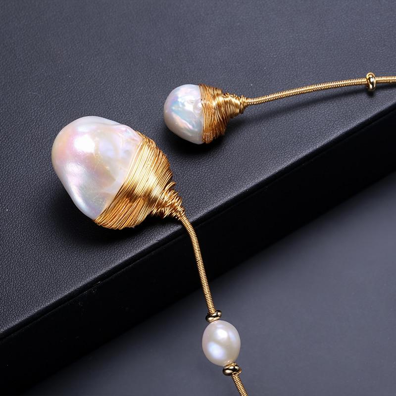 DAIMI Luxury Collares Huge Baroque Pearl Handmade Jewelry Choker Pearl Necklace collares de moda 2019
