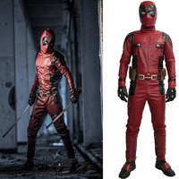 Dead Pool Costume Outfit Jumpsuit Cosplay Deluxe Fancy Slim Clothing Prop Replica
