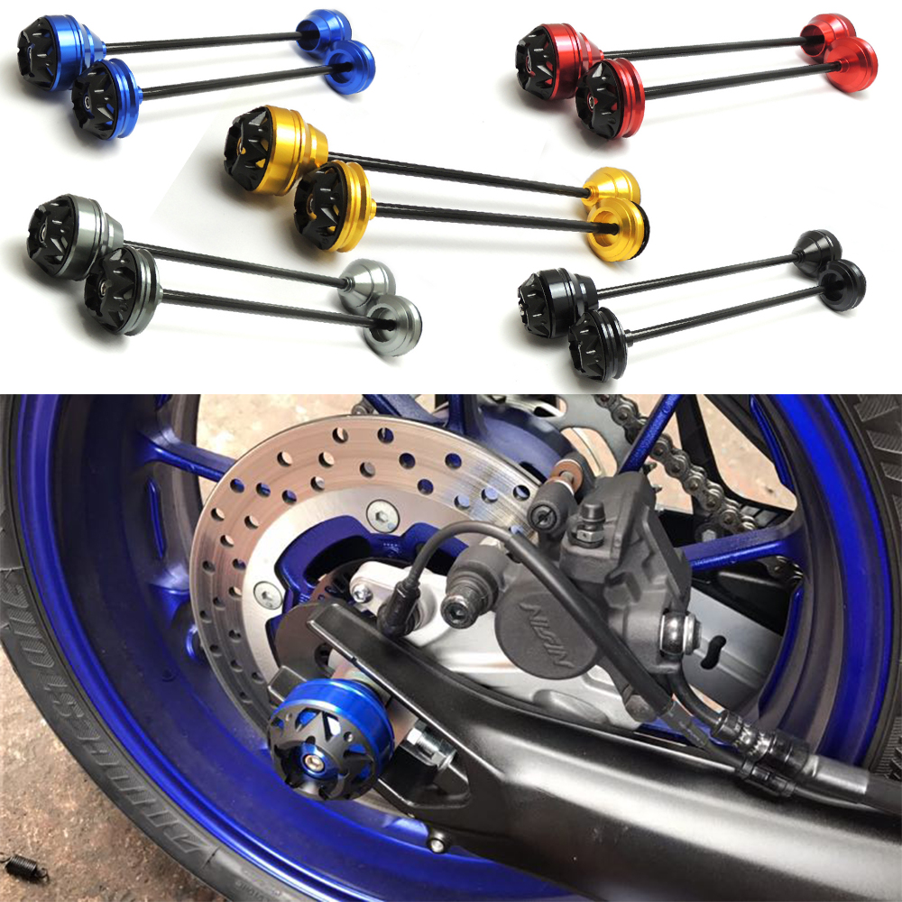 KEMiMOTO For YAMAHA MT-09 Front and Rear Axle Crash Mushrooms Protectors Slider TRACER MT09 FZ09 FZ 09 2014-2016 XSR900 700