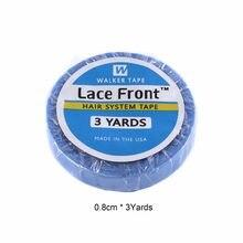 1 rolo 0.8cm * 3 jardas super cabelo azul fita adesiva dupla-face para extensão do cabelo/peruca do laço/peruca de peruca