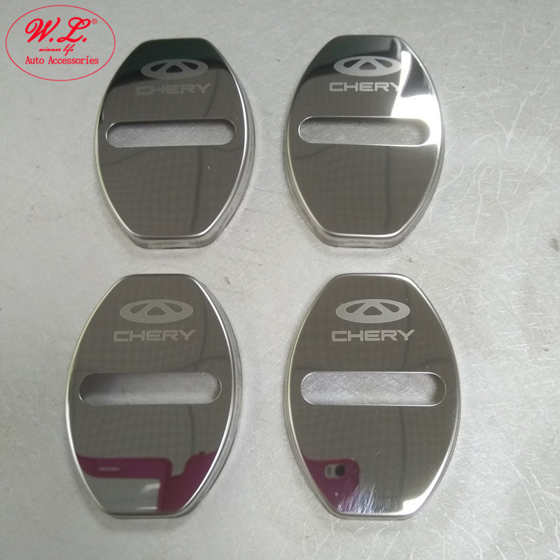 2 Styles font b Car b font Door Lock Stainless Cover Anti corrosive Decoration Protecting Buckle