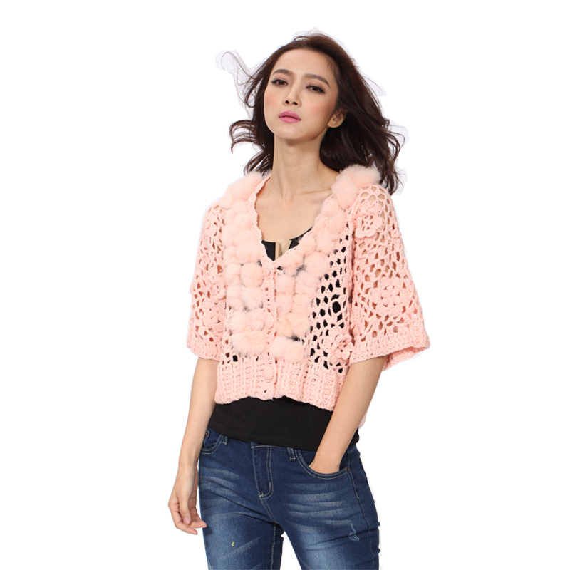 2017 Brand Women Shrug 3 Colors Hand Knitted Half Sleeve All match ...