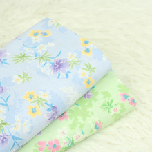 Pure Cotton Plain Fabric Floral Printed Cotton Fabric Green/Blue DIY Patchwork Material Sewing Quilting Handmade Cloth Dress floral printed cotton fabric patchwork cotton plain fabric high quality pure cotton for diy sewing quilting material cloth craft