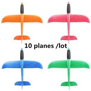 Image 1 - EPP Schaum Hand Werfen Flugzeug Outdoor Starten Segelflugzeug Flugzeug Kinder Geschenk Spielzeug 48CM Interessante Spielzeug 10 teile/los freies schiff dropshipping