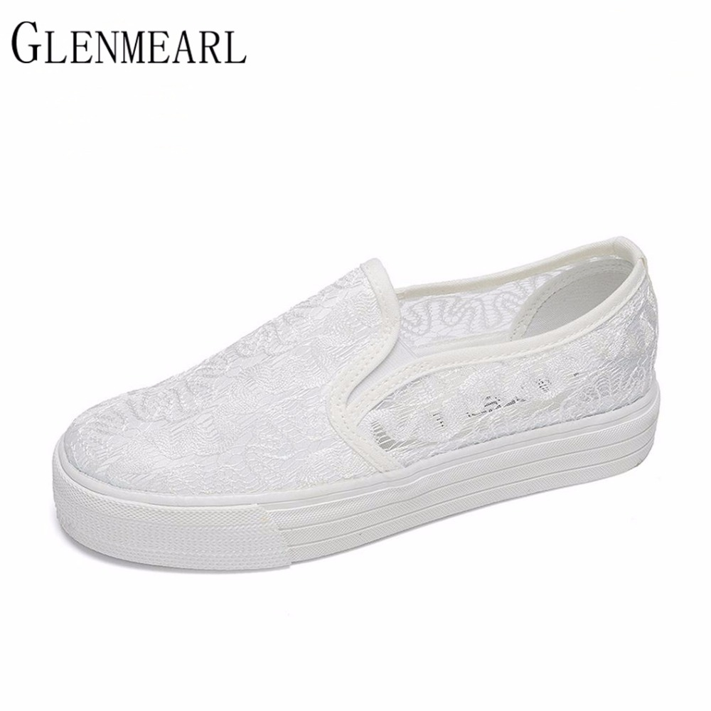 2017 New Flat Women Shoes Spring Muffin Platform Brand Loafers Shoes For Female Casual White Black Women Lazy Loafers Shoes XP35