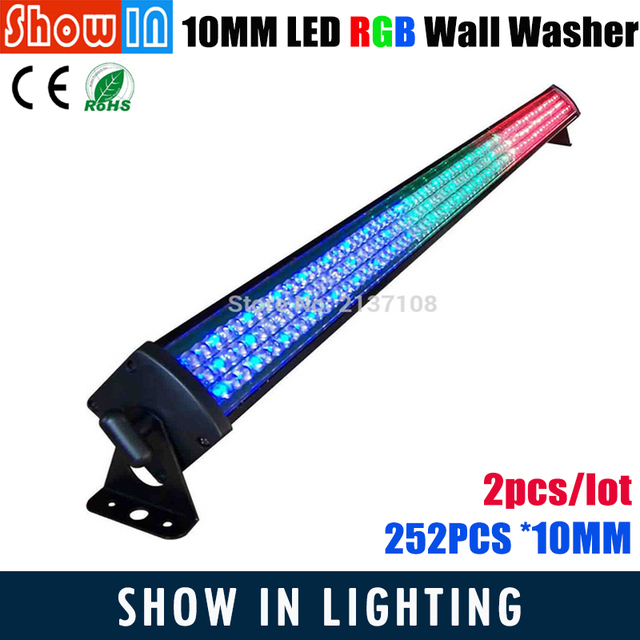Indoor LED RGB Wall Washer Light Beam 30W 252*10MM Luces Discoteca Proyector Navidad DMX512 DJ Disco Party Stage Effect Lighting