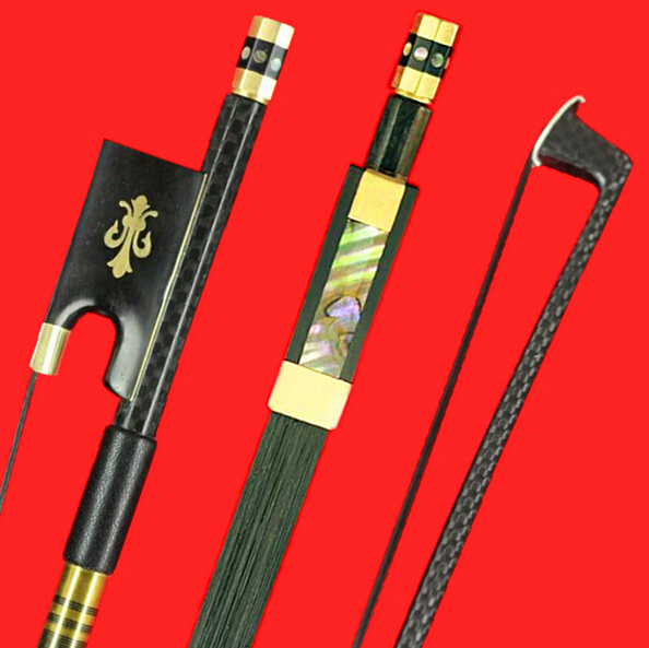 1pc Professional Carbon Fiber Violin Bow 4/4 Good Balance Black Horsehair Ebony Frog Free Shipping