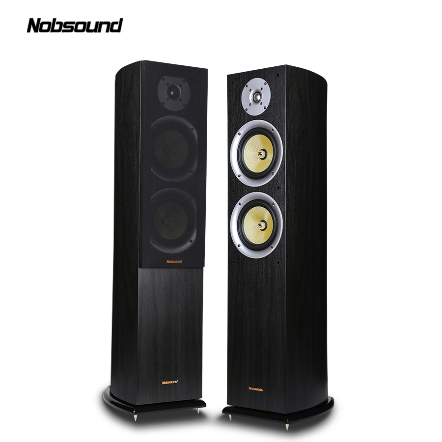 Nobsound VF701 Wood 150W Floor-Standing Speakers 2.0 HiFi Column Sound 6.5 inch speaker Home Professional speakers  цена и фото