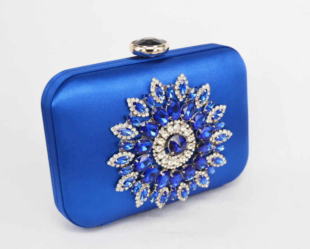 LaiSC Satin clutch evening bags designer diamond women bag Orange Female  Clutch Bag Fashion Party Purse 5b63b4accb8c