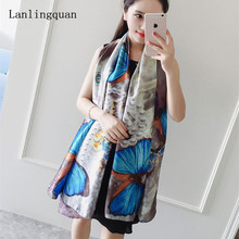 Desigual 2016 Fashion New Style Shawl Brand Tartan Design Silk Scarf 180x90 Women Pure Digital Print