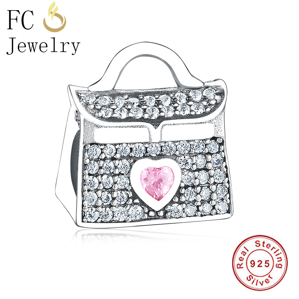 ALI shop ...  ... 32878728912 ... 3 ... FC Jewelry Fit Original Pandora Charms Bracelet 925 Sterling Silver Dress Lip Lipstick High Heels Bag Perfume Cup Berloque DIY  ...