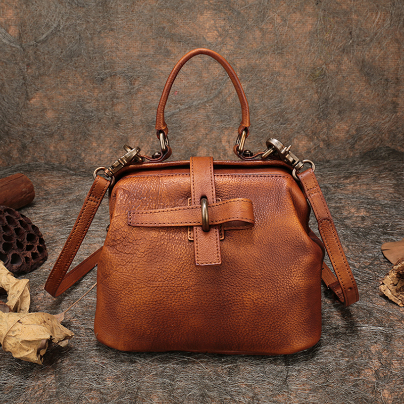 Natural Leather Bags Ladies Handbag 2018 Small Messenger Crossbody Bag  Reteo Handmade Cow Leather Shoulder Frame Bag-in Shoulder Bags from Luggage    Bags on ... d11fdc65e7ddc