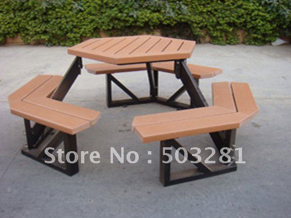 Stainless Steel Table Sets,outdoor Table Sets,patio Table And Benches,wooden  Table