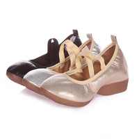 Soft Ballet Dance Shoe for Women Split Sequined Cloth Outsoles Gym Yoga Dance Sport Shoes Girls Toe Dance Slippers SE045