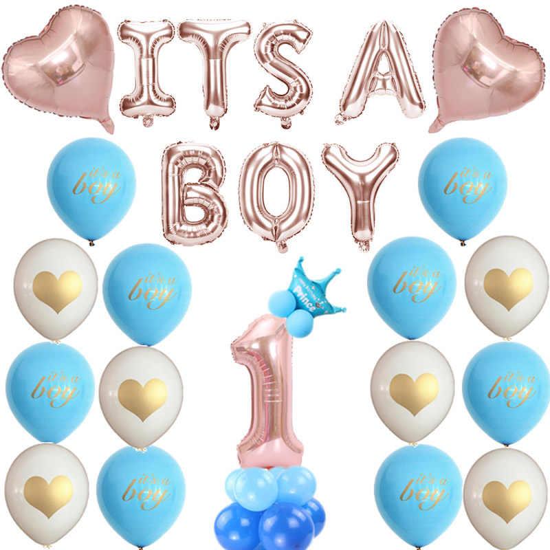 Decoración de globos de látex de feliz cumpleaños para niños y niñas