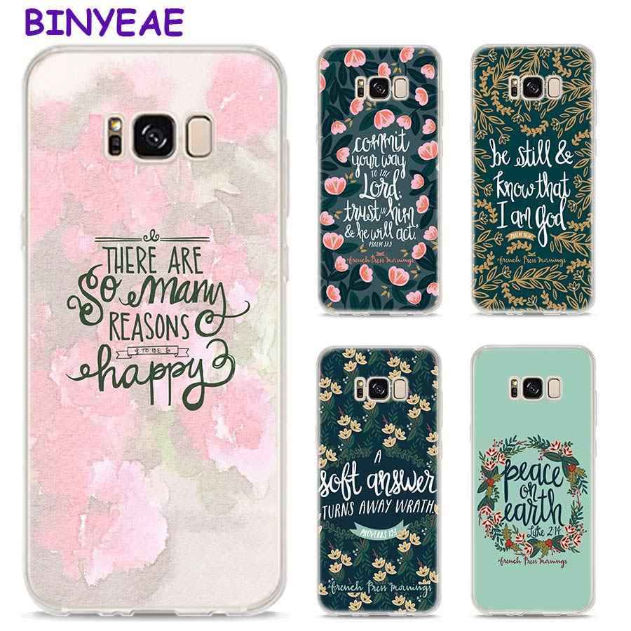 timeless design 6fa9a 68dd4 BINYEAE Bible verse Philippians Jesus Christ Christian Style Clear Soft TPU  Phone Cases For Samsung Galaxy S9 S8 Plus S7 S6 S5 S
