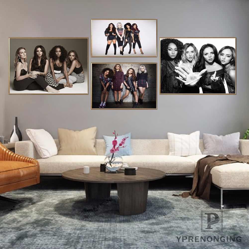 Custom Little Mix  Home Decor Canvas Printing Silk Fabric Print Wall Poster No Frame 180317@67