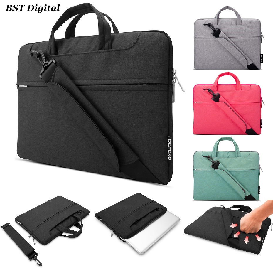 11 12 13 15 Laptop Shoulder Messenger Bag For 6 3 4 Inch Macbook Air Pro Retina Notebook Case Water Resistant Nylon In Bags Cases From