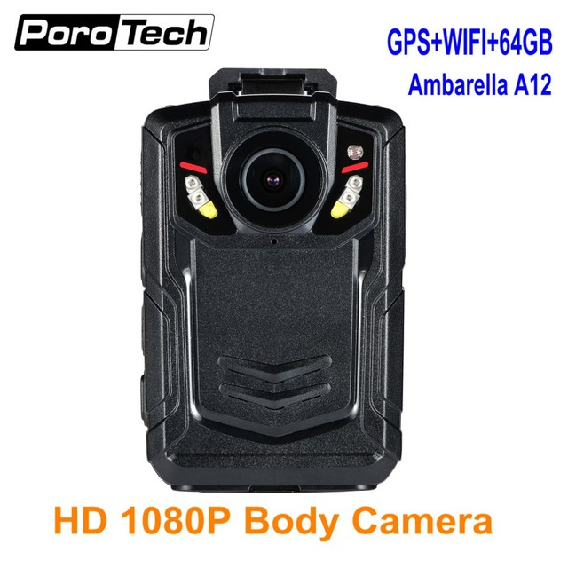 2018 upgraded BC002 1080P pocket Camera wearable Body Worn Camera Recording 12Hours with GPS+Wifi function+64GB Ambarella A12