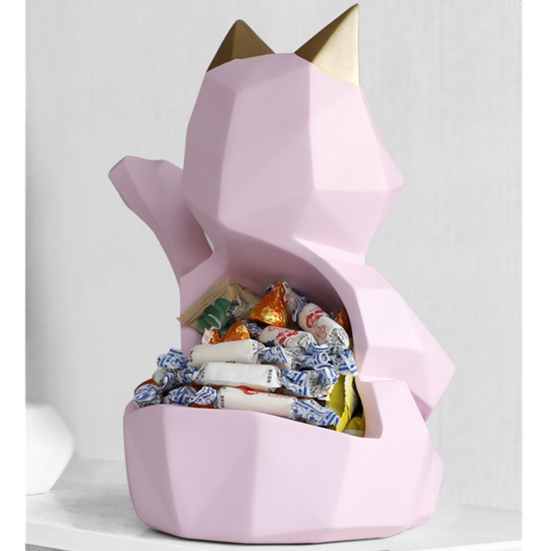 Resin Decoration Cats Storage Box Statue Money Drawing Animal Back Storage Craftwork Home Accessories L3003Resin Decoration Cats Storage Box Statue Money Drawing Animal Back Storage Craftwork Home Accessories L3003