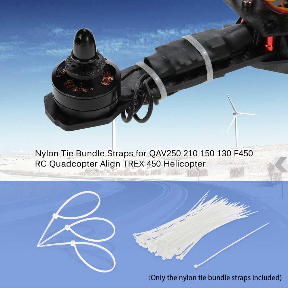 GoolRC 200 Pcs 1.9*150 millimetri 2.5*200 millimetri ESC Servo Motore del Cavo di Nylon Tie Cinghie Fascio per QAV250 210 150 130 F450 Da Corsa FPV Drone
