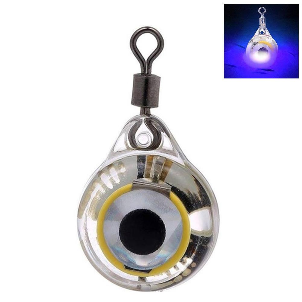 Led Eye Shape Deep Drop Squid Tools Electronic Flashing Underwater Battery Powered Fishing Lure Lamp Illuminous Emitting Light