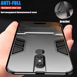 На Алиэкспресс купить чехол для смартфона shockproof armor case for oppo f11 f11 pro hybrid rubber bumper hard bracket pc back cover for reamlme 1 reno r17 x27 phone case
