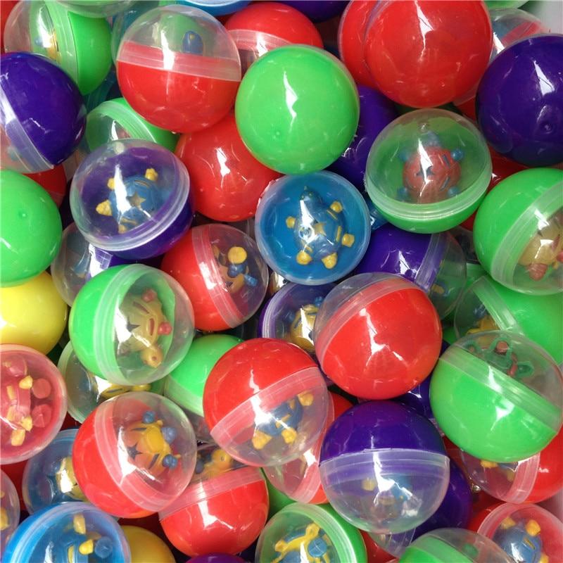 100 pcs/tasche Die kapseln ball mit die spielzeug 32mm kapseln abdeckung mit gemischten stil schöne spielzeug für spielzeug Vending Automaten