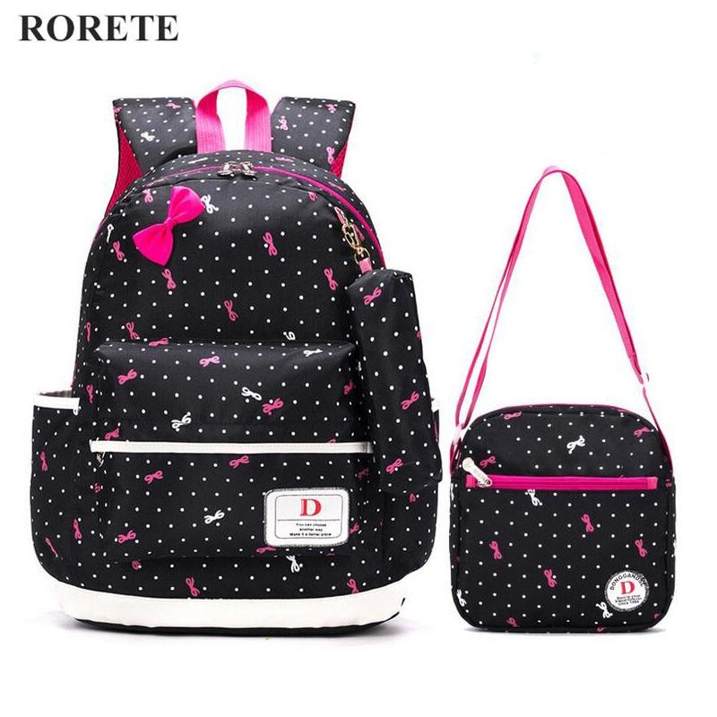 Girl Schoolbag Oxford Orthopedic Backpack for kids Waterproof Children School Bags Rucksack Book Bag Satchel mochila escolar