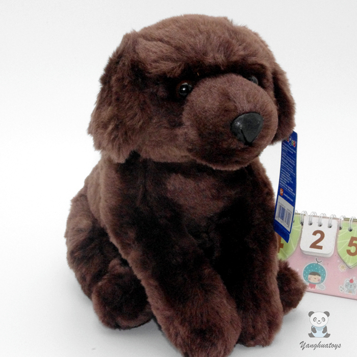 Fyllda Djur Plysch Leksaker Simulering Brun Labrador Hund Doll Barn Toy Butik