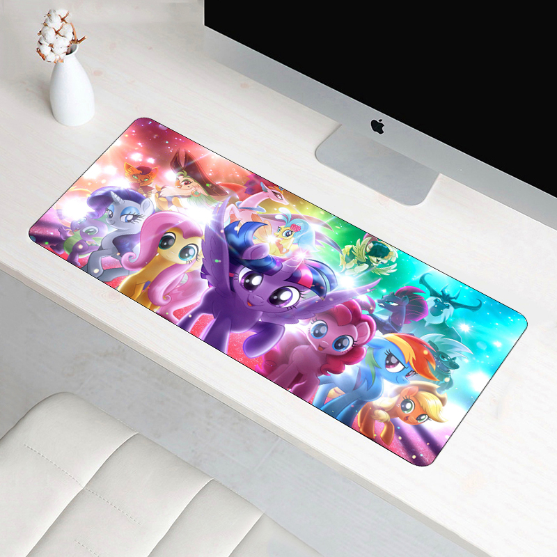 Large 60x30cm XL My Little Pony Mouse Pad Gamer Locking Edge Rubber Durable Cartoon Gaming Mousepad Office Computer Mat