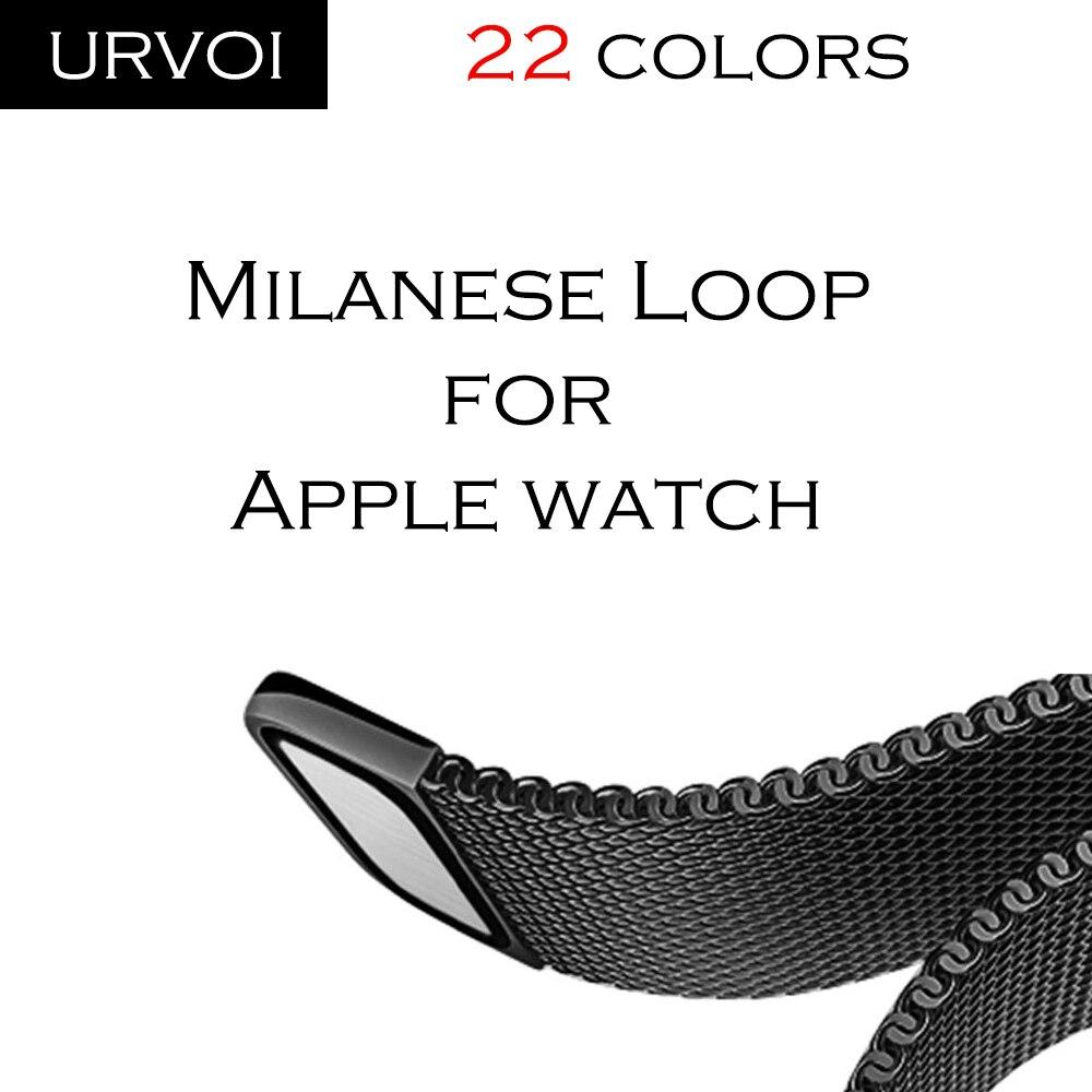 URVOI Milanese schleife für apple watch band Serie 4 3 2 1 strap für iwatch edelstahl Magnet verstellbaren schnalle mit adapter
