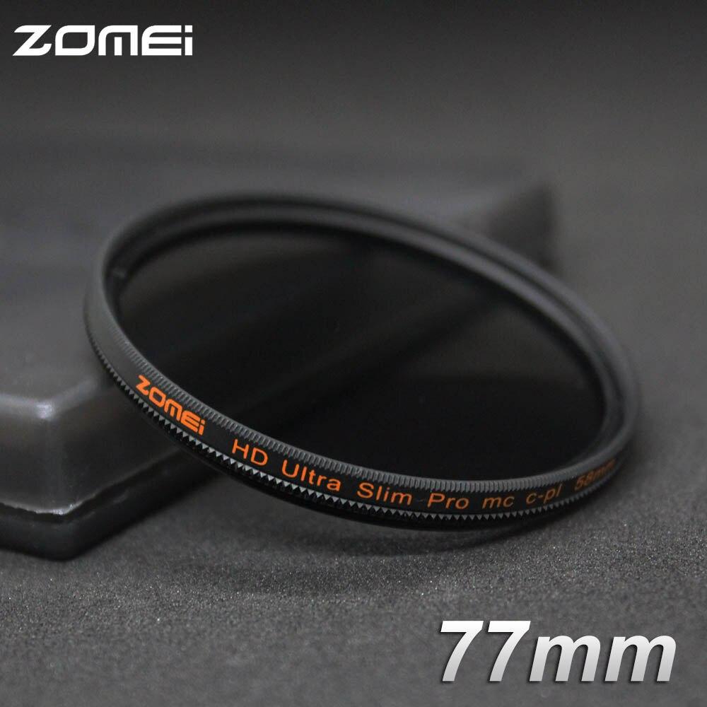 Zomei 77mm CPL Filtre Polarisant Mince Pro HD 18 Couche MC circulaire Polarisant Filtre pour Canon Nikon Sony Pentax Leica Camera Lens